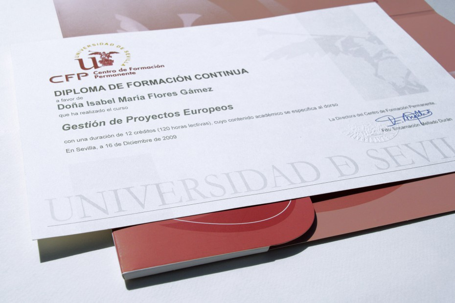 Diplomas Universidad de Sevilla