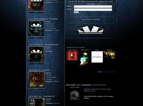Audiogore Myspace